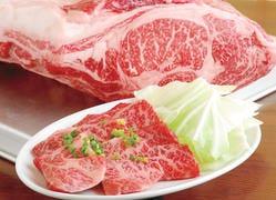 焼肉の定番「カルビ」もこだわりの北海道産牛です!!