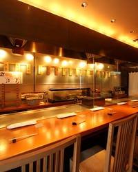 京風鉄板 はせ川 心斎橋 店内の画像