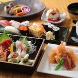 刺身からお寿司まで揃う宴会コース