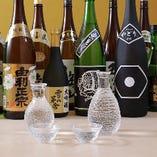 秋田県齋彌酒造店の他、充実した日本酒の品揃え