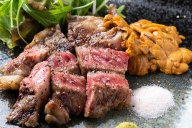 極上肉・熟成肉×大粒濃厚うに お肉バル うに(和) こだわりの画像