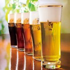 こだわりの生ビールが飲み放題