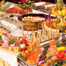 今宵は豪華に立食・ビュッフェ宴会! 2時間飲み放題付6,000円~「海鮮舟盛り」「寿司」内容ご相談下さい!