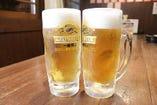 なんと生ビールが280円(税抜)!お仕事帰りの一杯にぜひ♪