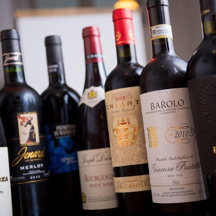 種類豊富なワインをお楽しみください