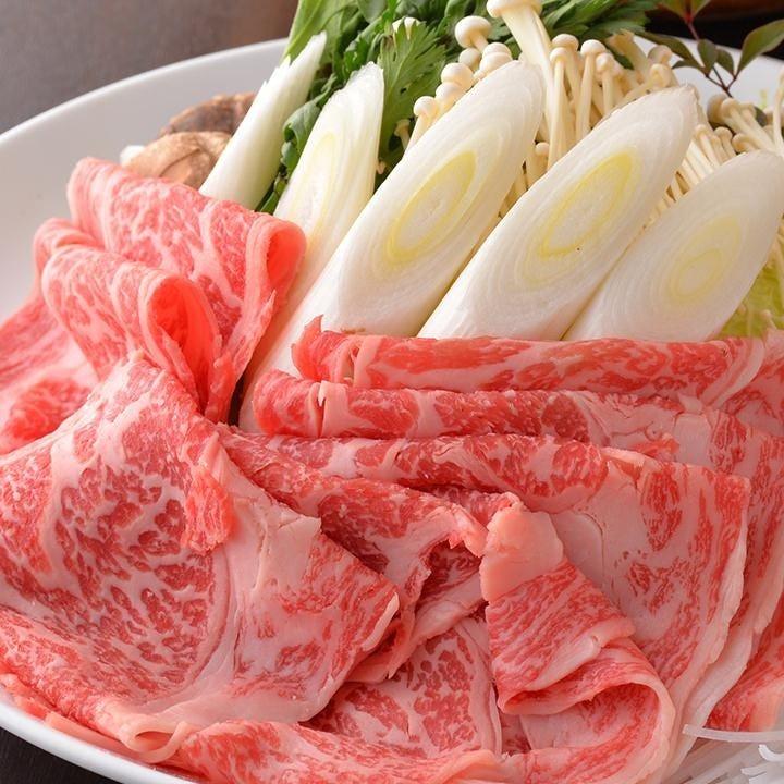 秋川牛のすき焼きを懐石コースでお楽しみください!!