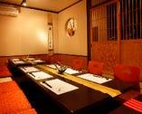 全て個室を御用意!くつろぎの空間でごゆっくりとお食事をお楽しみください。