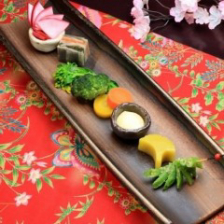 立川野菜を使用したお料理の数々