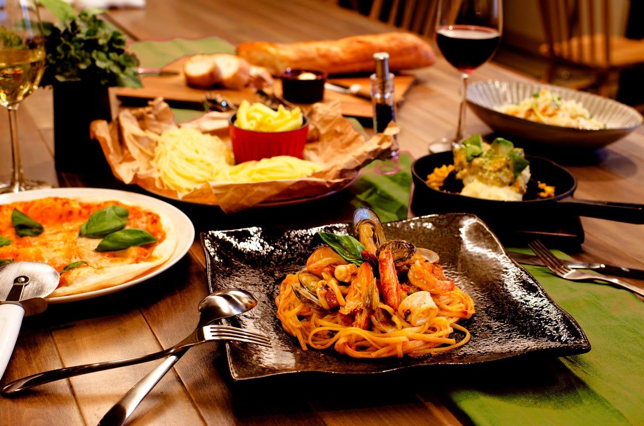 """ポイント利用可★""""Pasta Pasta Pasta"""" コース 《3名様以上のシェアスタイル》 2,800円"""