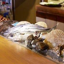 その日その時の旬な鮮魚お刺身