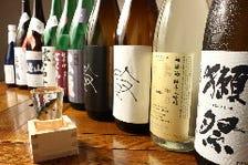 日本酒は常時10種類以上をご用意