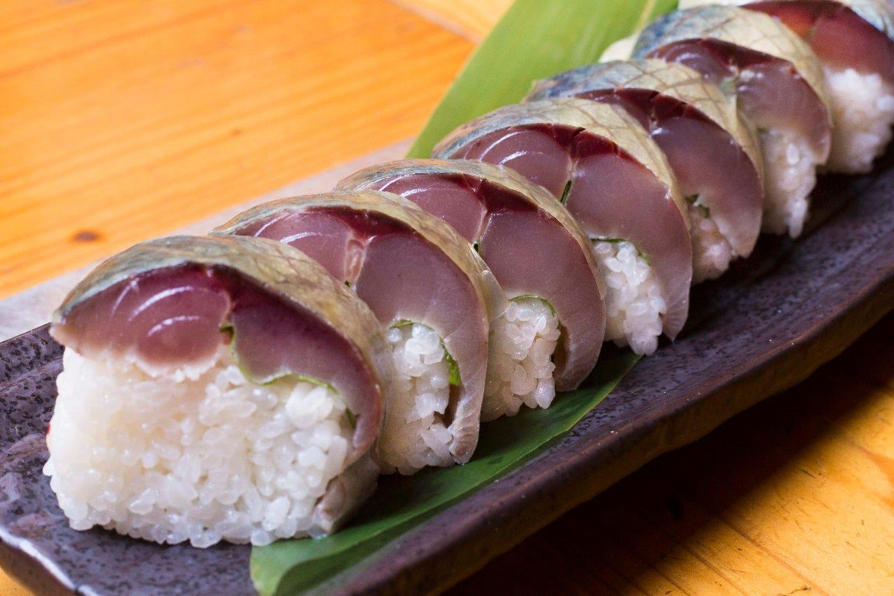 コースには全て「松前寿司」がセット!