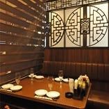 【完全個室】 最大40名様までご利用可能な中華風半個室☆