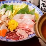 信州遠山郷産猪 ぼたん鍋