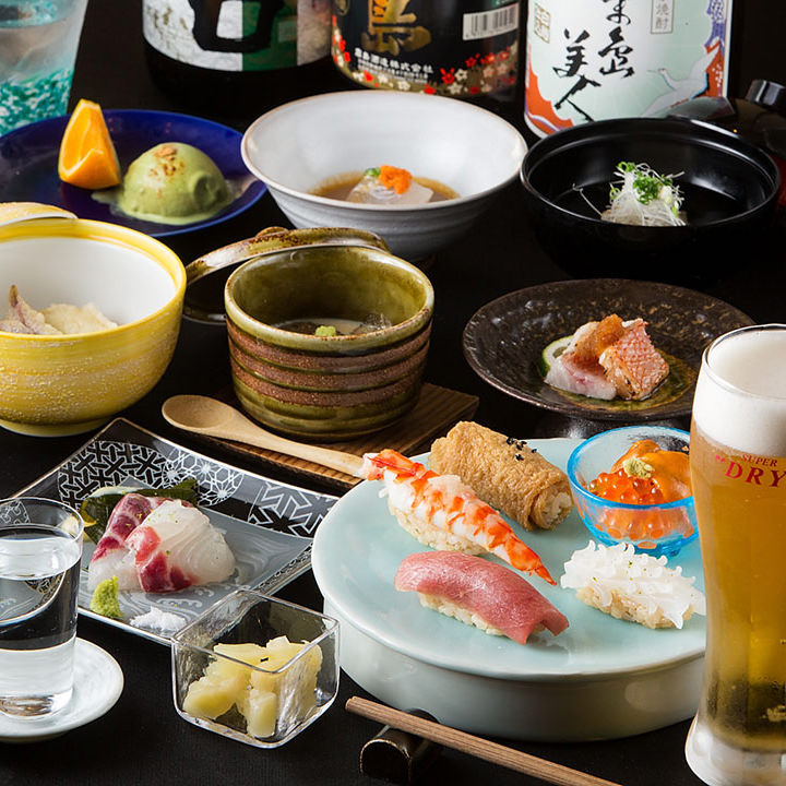【2時間飲み放題付】旬の魚と和食6,600円コース<全8品>接待・記念日・飲み会・宴会