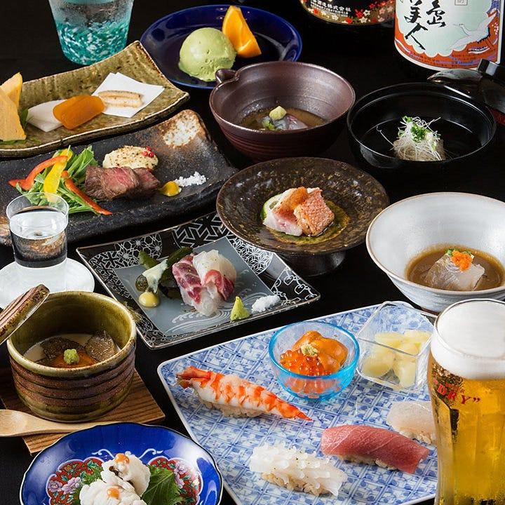 鮮度はもちろん最大限に旨味を引き出した魚が楽しめるコース料理