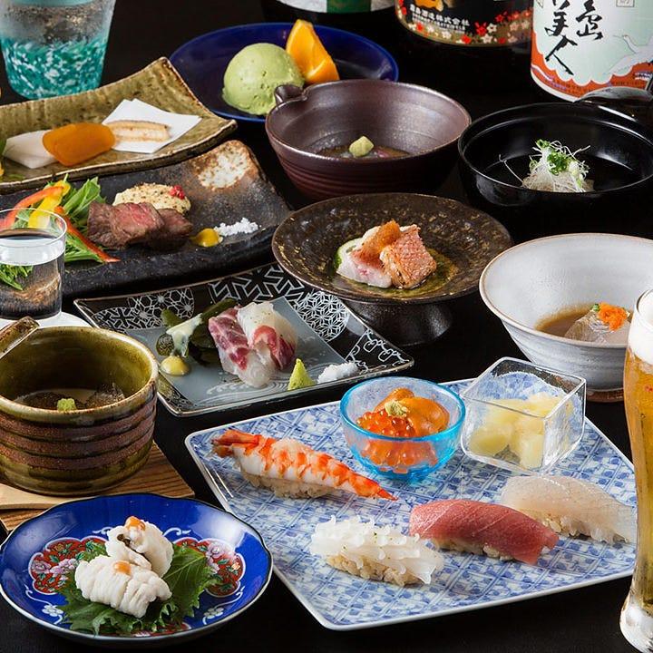 【2時間飲み放題付】旬の魚と和食8,000円コース<全8品>接待・記念日・飲み会・宴会