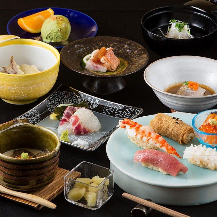 【旬の鮮魚と和食】鮨コース【月】<全5品>飲み会・宴会・接待・記念日