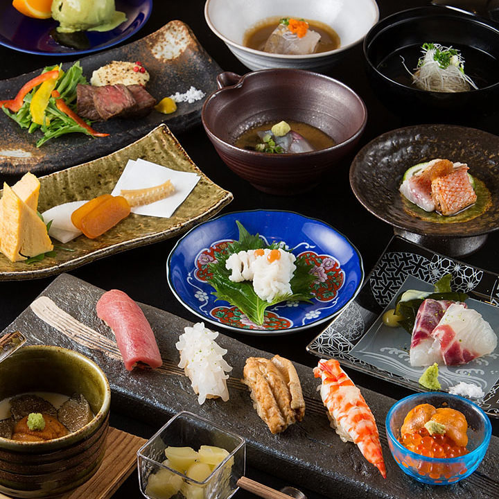 【旬の鮮魚と和食】鮨コース【華】<全6品>飲み会・宴会・接待・記念日