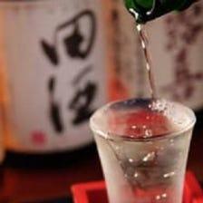 日本酒もこだわりの品揃えです。