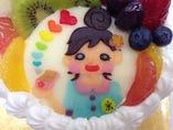 キャラクターケーキ (マジパンプレート)