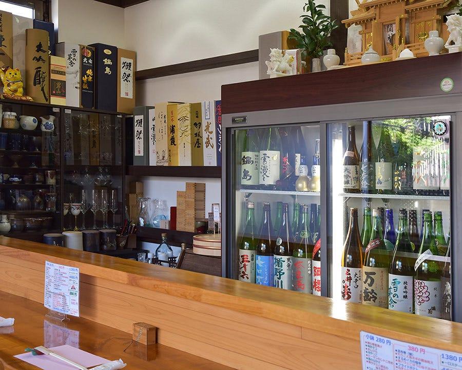 ■全国の日本酒 常時70種取扱い