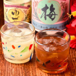 泡盛ベースの果実酒はゆず酒・シークワァーサー酒などをご用意