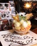 女性に人気♪金魚鉢に入った当店オリジナルのデザート。