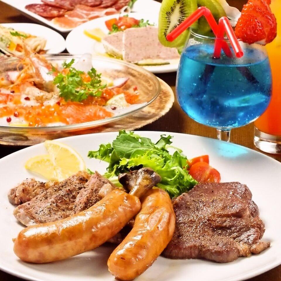 【貸切or個室】飲み放題2時間+お料理8品★リーズナブルパーティーコース1980円