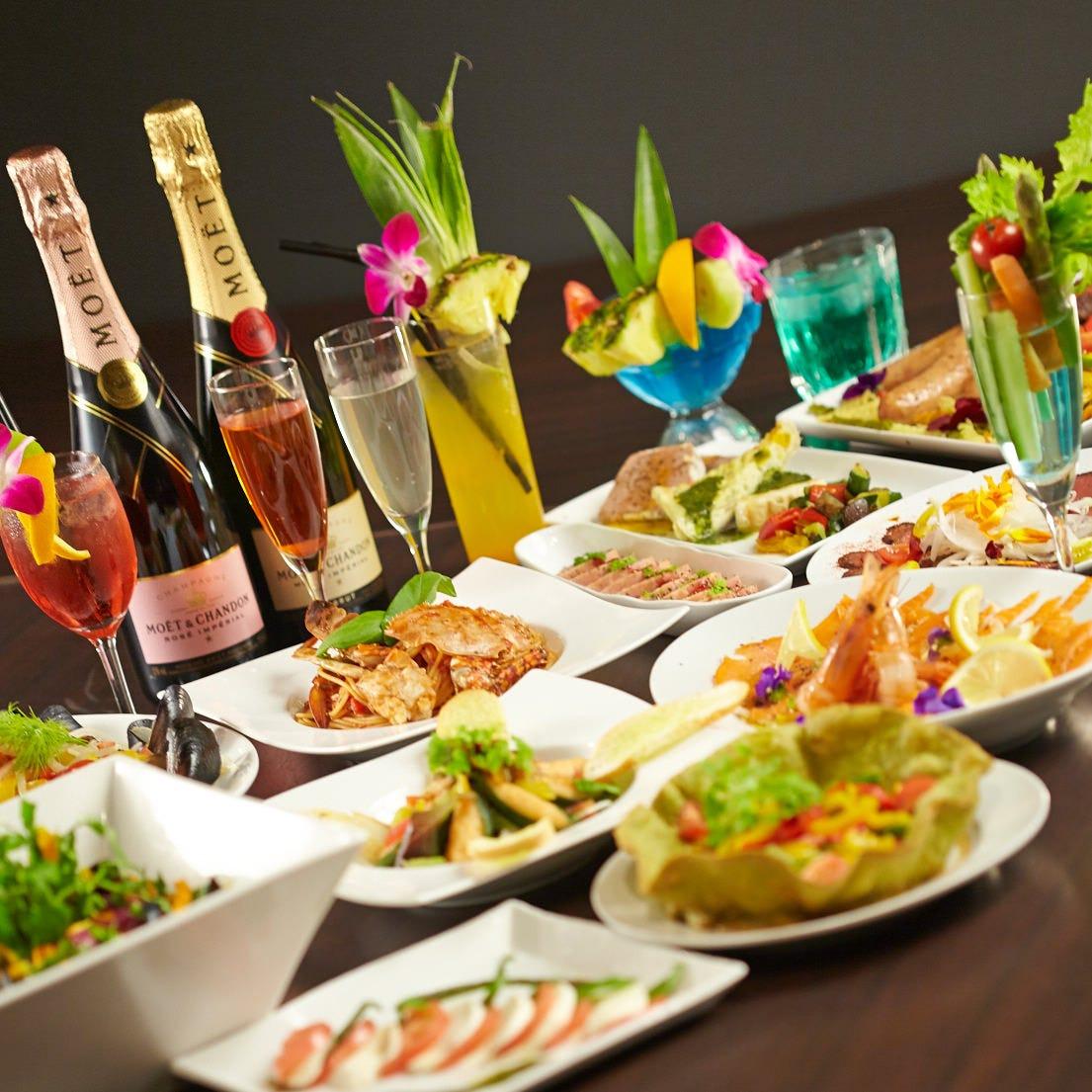 【貸切or個室】飲み放題2時間+お料理9品★カジュアルパーティーコース2480円