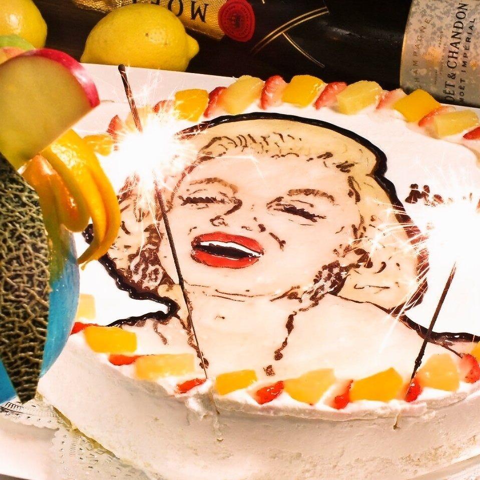 誕生日は似顔絵ケーキでサプライズ!