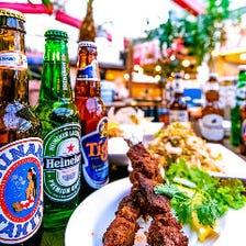 世界のビールをお楽しみ頂けます!