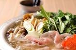 馬ロースの味噌鍋