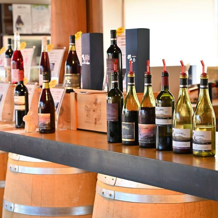 兎田ワイナリーで常備するワインラインナップをご用意してます