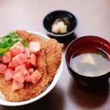 わらじかつ定食(2枚) ~イタリアンフレッシュトマトソース添え~