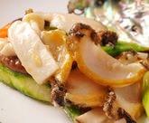 アワビの季節野菜炒め