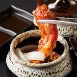 【充実した焼肉】 壷漬けカルビなど、厳選した上質なお肉を使用