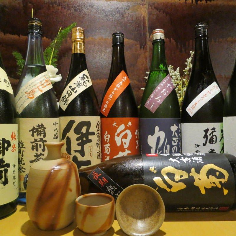 岡山の鮮魚には岡山の地酒