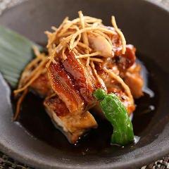 岡山県産鶏の黒七味焼き