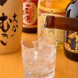 地酒や焼酎などお酒の種類も豊富に取り揃え