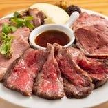 和牛肉盛り3種