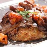 【大人気!】トマトお好み焼き ~牛肩ロースの炙り 特製トマトソース~