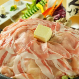 道産ハーブ豚の陶板焼き