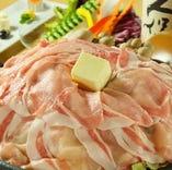 北海道産ハーブ豚の陶板焼き
