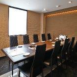 空調完備の快適空間は装飾を控えたシンプルな設えで、接待利用にも最適です