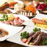 ご宴会!3,500円コース/全9品/黒毛和牛のランプステーキ!