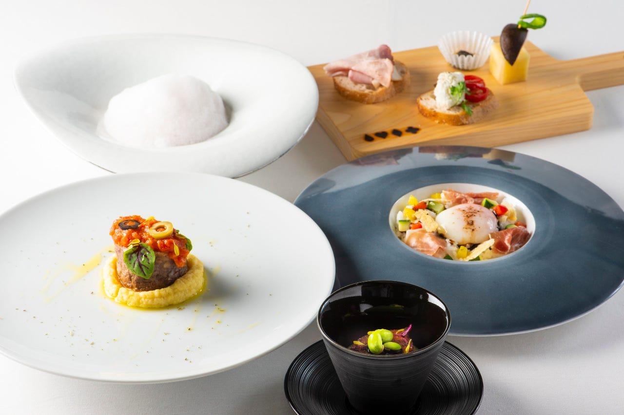 埼玉県産食材を使用したコース料理