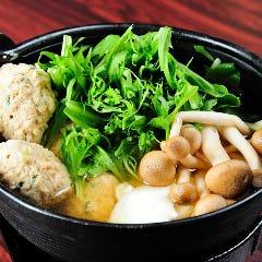 鶏団子と水菜のハリハリ鍋