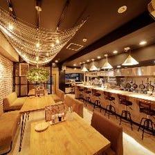 ◆おしゃれな空間で楽しむ絶品料理