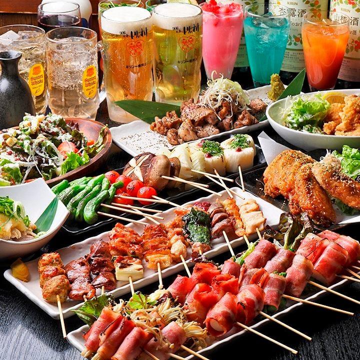 コスパ◎大満足の食べ飲み放題コース